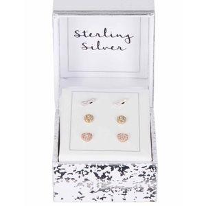 Jewelry - Set of 3-arrow-heart earrings NWT